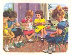 "illustrated by Marcel Marlier (""Martine"" children's books)  http://p4.storage.canalblog.com/44/11/540251/43448758.jpg"