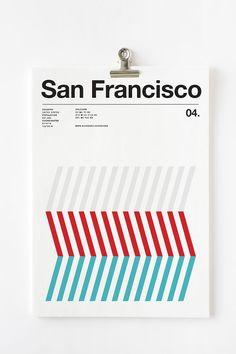 世界の都市を3色で表現したポスター「Three Colors Cities Posters」 | DesignWorks デザインワークス