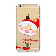 Pour Coque iPhone 7 / Coques iPhone 7 Plus / Coque iPhone 6 Translucide / Motif Coque Coque Arrière Coque Noël Flexible TPU AppleiPhone 7