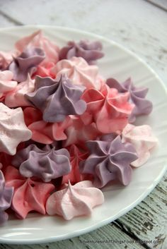 KAH says: meringue cookies with kool-aid concentrate for color and flavor...I haven't tried the kool-aid but I used this basic recipe with lemon extract subbed in for the kool-aid and they turned out great!