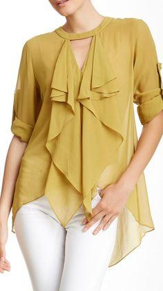 cascade silk blouse