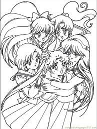 Znalezione obrazy dla zapytania sailor moon coloring pages printable