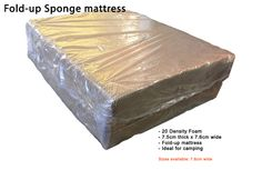 Fold-up foam mattress - single