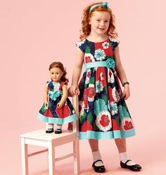 SEWING PATTERN! MAKE MATCHING DRESS FOR GIRL~DOLL! FITS AMERICAN GIRL ISABELLE! #Mccalls