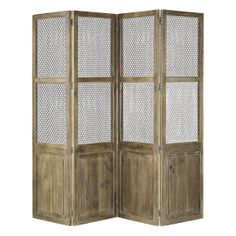 Wire & Wood Screen in House+Home HOME+DÉCOR Furniture Storage+Accents at Terrain