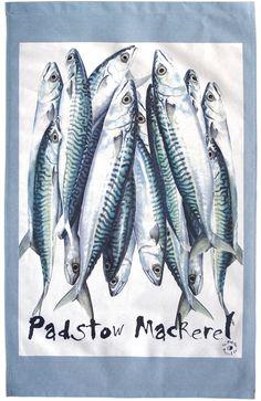 Padstow Mackerel T-Towel