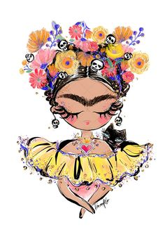 Frida Mexican Clipart by Karamfila on Frida Kahlo Artwork, Kahlo Paintings, Frida Art, Frida Kahlo Cartoon, Clip Art, Fashion Sketchbook, Art Girl, Art Drawings, Illustration Art