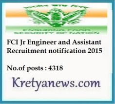 Online registration starts today #FCIJOBS Food Corporation of India Jr Engineer , Assistants Recruitment notification 2015  http://kretyanews.com/fci-recruitment-2015-jr-engineer-assistants/