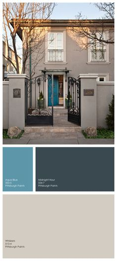 An Unusual Blue For A Front Door Medium That Has Touch Of Green Jennifer Johnson Pittsburgh Grand Distinction Paint Colors