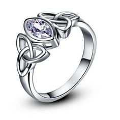 CelticTrinity-Knot-White-Cubic-Zirconia-White-Gold-Plated-Ring-Various-Sizes
