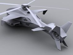 futuristic helicopter concept
