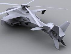 futuristic helicopter concept