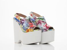 NWB JEFFREY CAMPBELL LOTTERY High Wedge Heel sz US 7 SOLD OUT #JeffreyCampbell #PlatformsWedges #Party