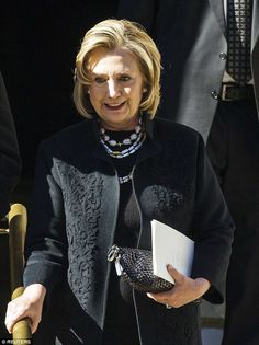 First Lady fashion: Hillary Clinton, a longtime fan of the designer, was a guest at the fu...