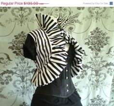 Spring Sale Circus stripe oversized ruffle by AliceAndWillow, $121.50