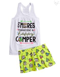 The perfect pjs for sleepaway camp--or a midnight snack!