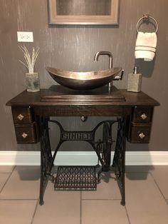 Rustic Bathroom Cabinet, Bathroom Sink Vanity, Bathroom Interior, Small Bathroom, Bar Shed, Farmhouse Renovation, Diy Bathroom Remodel, Repurposed Furniture, Bathroom Inspiration