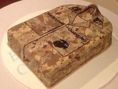 Marine Corps. Groom's Cake by Heather Lester Pelham of Emerald Coast Custom Cakes, Destin, FL  emeraldcoastcustomcakes.com