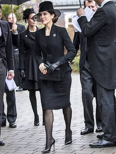 21 March 2017 - Princess Mary attends the funeral of Prince Richard of Sayn-Wittgenstein-Berleburg in Germany
