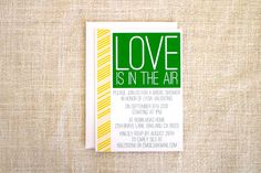 Love Is In the Air Bridal Shower Invitation by FMCstudio
