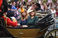 dailymail: Trooping the Colour 2016, June 11, 2016-Princess Beatrice and Princess Eugenie