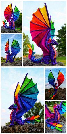 Crochet Dinosaur, Crochet Animal Amigurumi, Crochet Amigurumi Free Patterns, Crochet Animal Patterns, Crochet Animals, Crochet Dragon Pattern, Crochet Doll Pattern, Crochet Dolls, Crochet Yarn