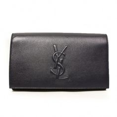bc4a315942 Item Model Number  361120 Dimensions  x x Availability  Usually ships the  same business day Yves Saint Laurent YSL Belle du Jour Large Clutch Bag  Navy ...