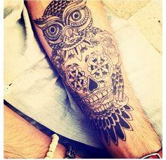 I Want #OwlTattoo #Tattoo #Tattoos #SkullTattoo #skull #owl