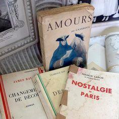 4 French Vintage Books Shabby Chic Style by 3rdshelffromthetop, $13.00