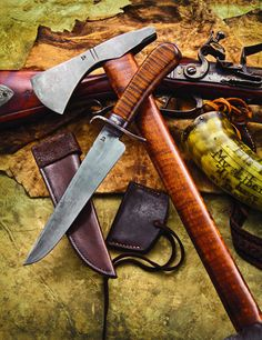 McDonald Pioneer Blade & Tomahawk Earn 'Knife of the Year' Honors Cool Knives, Knives And Tools, Knives And Swords, Beil, Knife Sheath, Cold Steel, Mountain Man, Custom Knives, Guns And Ammo