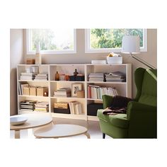 For the office. Maybe a bit of a lighter green, but I still like it. Like the idea of a bunch of book cases. Everything in this pic is from IKEA. Billy bookcases.