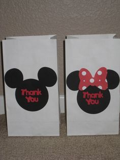 Disney Mickey Mouse Minnie Mouse by LittleBirdPaperShop on Etsy, $15.00