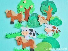 домашние животные игрушки из фетра для ковролинографа выкройки 6