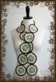 Put Da Lime In Da Coconut Crochet Scarf by Oililla.etsy