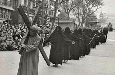 """Barcelona 1949 """"Processó de Divendres Sant""""  by Pérez de Rozas"""