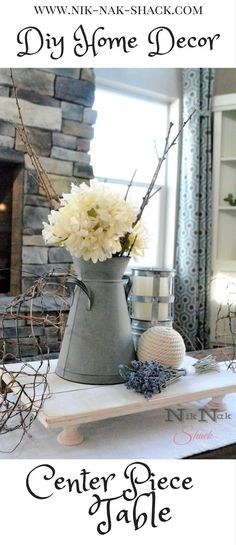 DIY Home Decor - Insanely Easy Centerpiece or Serving Tray! Step by step tutorial.
