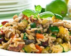 Risotto simple aux légumes : www. Italian Pasta Recipes, Best Italian Recipes, Vegetarian Recipes Dinner, Veg Recipes, Vegan Dinners, Easy Dinner Recipes, Easy Meals, Healthy Recipes, Italian Desserts