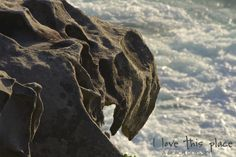 A sandstone monster or early creature sculpted by the battering winds, sea and sun.