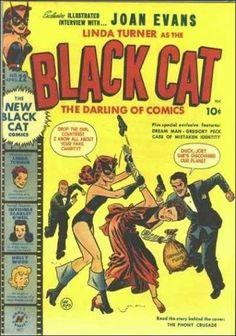 Black Cat 22 (Harvey Comics) - Comic Book Plus Vintage Comic Books, Vintage Comics, Comic Books Art, Comic Art, Book Art, Black Cat Comics, Western Comics, Retro Advertising, Horror Comics