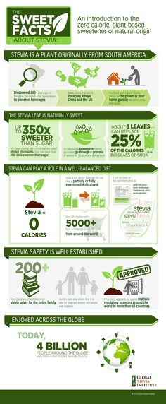 The Sweet Facts About Stevia - An Infographic from Global Stevia Institute
