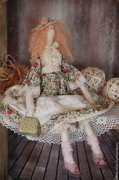 Купить Романтичная Шарлотта - оливковый, цветы, романтика, романтичный подарок, тильда, Весенняя Тильда, прованс