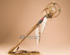 "Deer Skin Apache Indian Medicine Staff 28"" - Mission Del Rey Southwest"