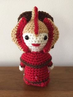 Crochet pattern of Padme Amidala inspired amigurumi