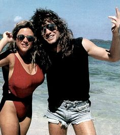 Jon Bon Jovi and Samantha Fox in Jamaica in November 1986