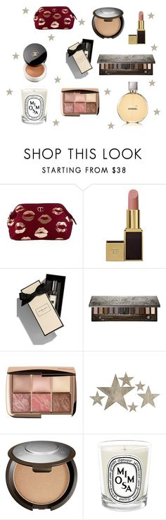 """Luxury Wishlist"" by hayleypatterson-1 on Polyvore featuring beauty, Charlotte Tilbury, Tom Ford, Jo Malone, Chanel, Urban Decay, Slippin' Southern, Becca and Diptyque"