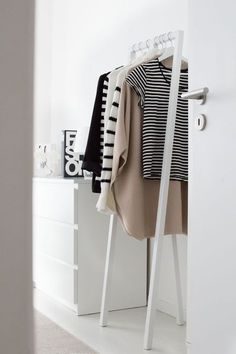 Ikea white drawers & Hay Loop clothes stand | @styleminimalism