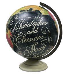 Vintage globes.Love.