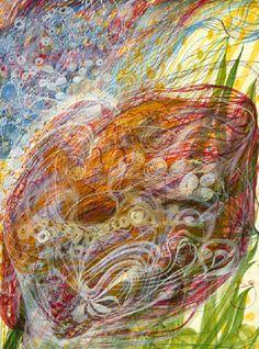 The Psychic Paintings of Spiritualist Artist Georgiana Houghton – Zero Equals Two!