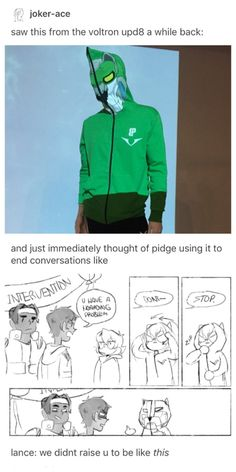 Headcanon and art by joker-ace - Pidge and the Green Lion Hoodie