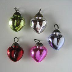 Mini mercury glass hearts